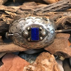Accessories - Chimney Butte Sterling Silver Lapis Hair Barrette